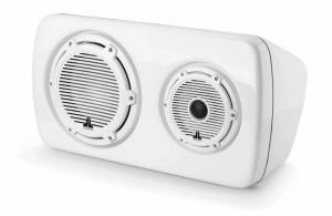 JL Audio - #90131 M6 3-Way Weatherproof Speaker - Classic Grille White Right