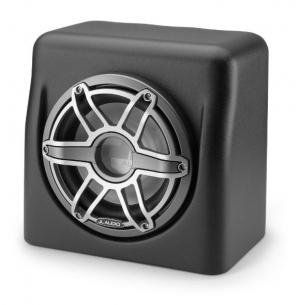 JL Audio - #90011 M6 10inch Marine Sub Driver w/ Gunmetal Sport Grille in Sealed Fiberglass Enclosure