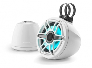 JL Audio - #93412 VeX M6 6.5inch Enclosed Coaxial Speaker System, Sport White White RGB LED