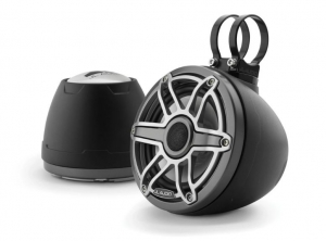 JL Audio - #93413 VeX M6 6.5inch Enclosed Coaxial Speaker System, Sport Titanium Black Gun Metal