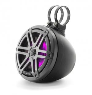 JL Audio - #93403 VeX M3 6.5inch Enclosed Coaxial Speaker System, Sport Titanium Black Gun Metal RGB LED
