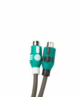 KICKER - Marine Series Y-Adapter Interconnect, RCA Male w/Female Adapters