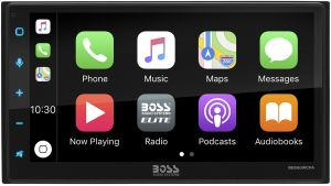 BOSS - ELITE - Double DIN Mechless Wireless BT AM/FM CarPlay/Android Auto 6.75