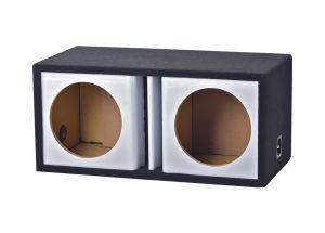 ATREND - 10inch Dual Vented White Carbon Fiber