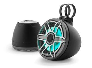 JL Audio - #93411 VeX M6 6.5inch Enclosed Coaxial Speaker System, Sport Titanium Black Gun Metal RGB LED