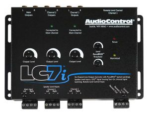 Audio Control LC7i-BLACK 6 channel line output converter with Accubass™
