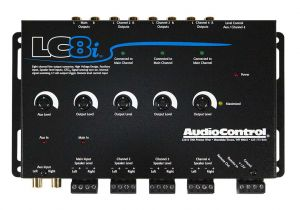 Audio Control LC8i-BLACK  8 channel line out converter with auxiliary input