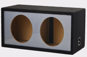 ATREND - 12inch Alpine Dual Slot Vented Carbon Fiber Black