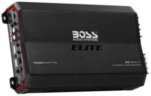 BOSS - ELITE - 1600 Watts, Class A/B 4 Channel Power Amplifier w/ Remote Sub Level Control