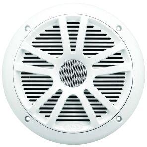 BOSS - 6.5inch Dual Cone Marine Speaker 180 Watts White