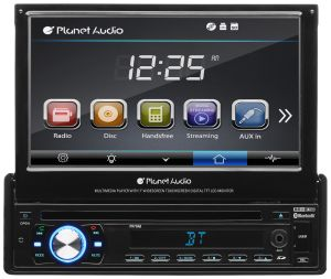 Planet Audio Single-Din, DVD Player 7""