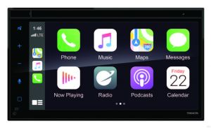 """Planet Audio Double-DIN, Apple CarPlay, Android Auto, MECH-LESS Multimedia Player (no CD/DVD) 6.75"""" Touchscreen Bluetooth"""